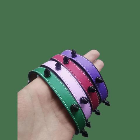 Collar púas pastel goth S