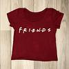 Polera corta Friends Roja