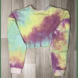 Poleron Top Crop Tie Dye