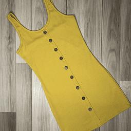 Vestido Amarillo con botones