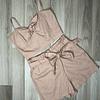 Conjunto Palo Rosa con nudo y lazo