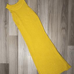 Vestido Amarillo escote alto