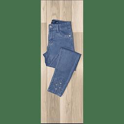 Jeans Azul claro con tachas