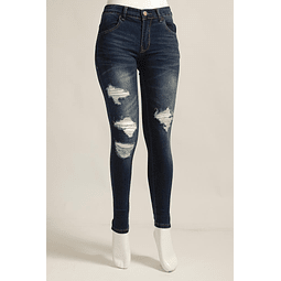 Jeans Azul Push Up Destroyed