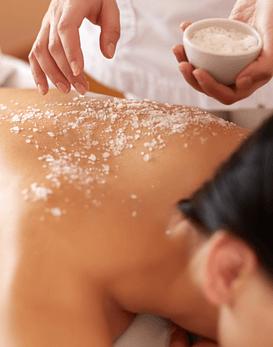 Exfoliación de espalda + Masaje de Relajación 30 min.