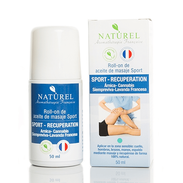 Roll on  Aceite de masaje sport Recuperation 50 ml Naturel Organic