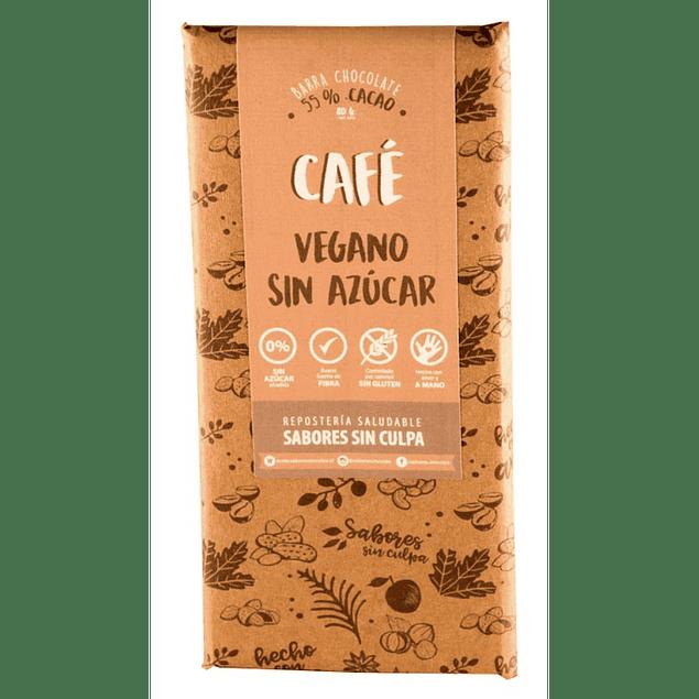 Chocolate amargo Café barra 80g Sabores sin Culpa