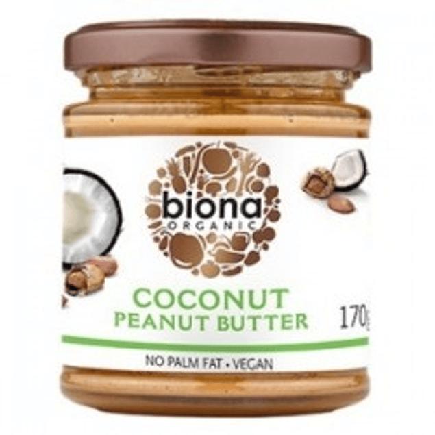 Mantequilla de mani coco organica 170g  Biona