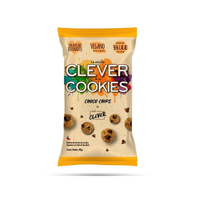 Galletas cookies choco chips 30g Eat Clever