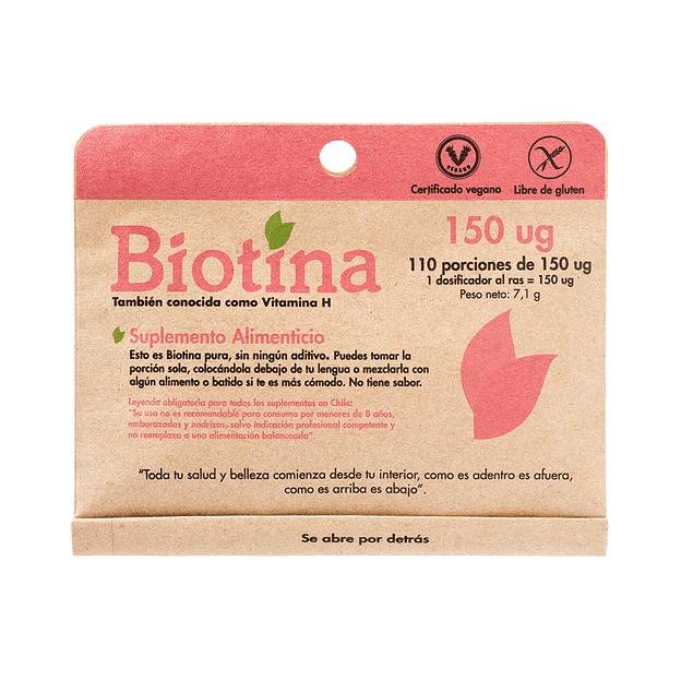 Biotina  110 porciones de 150 Ug Dulzura Natural