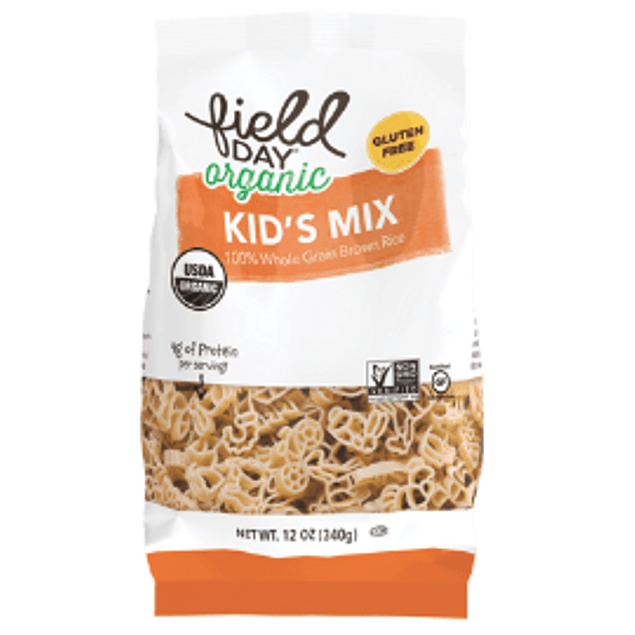 Pasta organica Kids Mix arroz integral 340g Field Day Organic