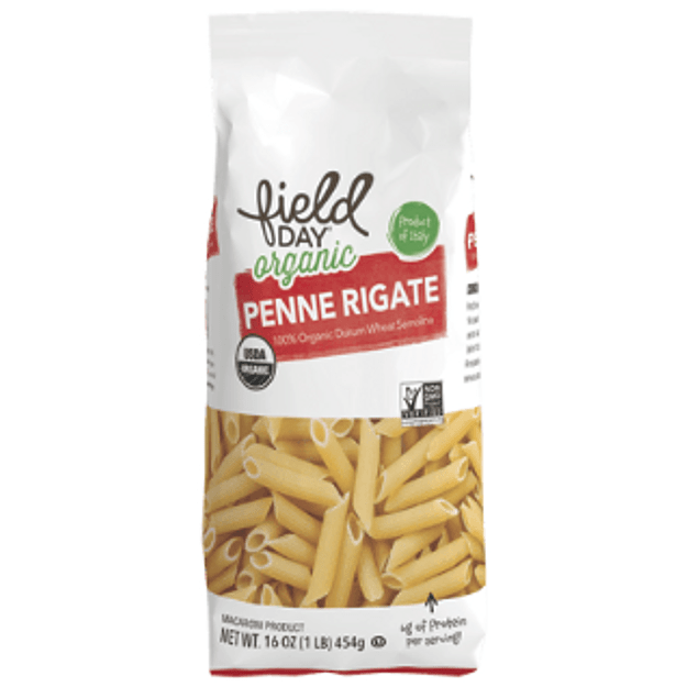 Pasta organica tradicional Penne Rigate 454g Field Day Organic