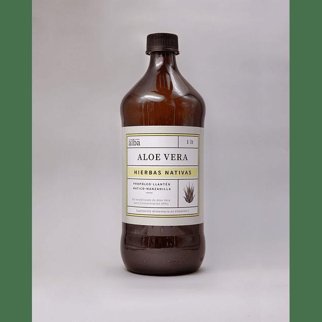 Aloe Vera puro con Hierbas nativas  1Lt Del Alba