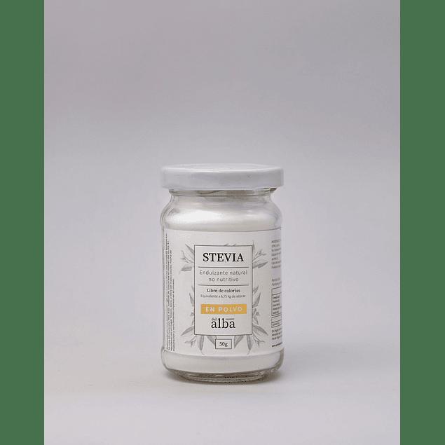 Stevia en polvo 50g Del Alba
