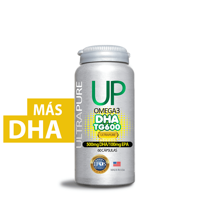 Up Omega 3 TG DHA  (500mg DHA, 100mg EPA) 60 cápsulas  Newscience