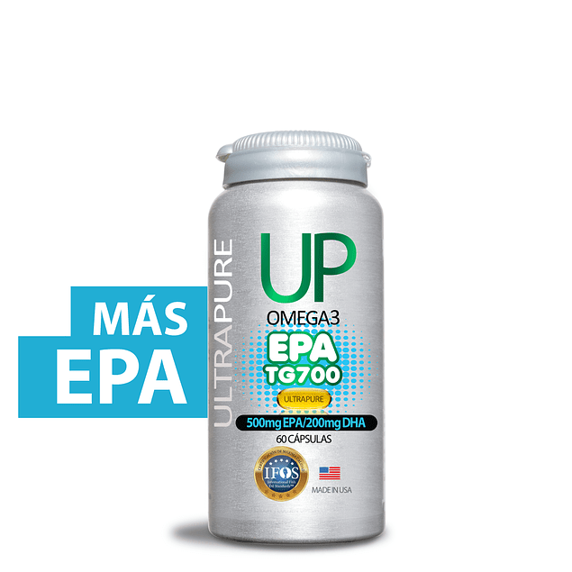 Up Omega 3 TG EPA  (500mg EPA, 200mg DHA) 60 cápsulas  Newscience