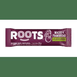 Barra 100% frutos Maqui & Frambuesas 36gr  Roots