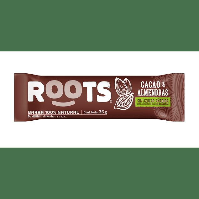 Barra 100% frutos Cacao & Almendras 36gr