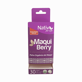 Maqui Berry 30 sachet 60gr Nativ for Life
