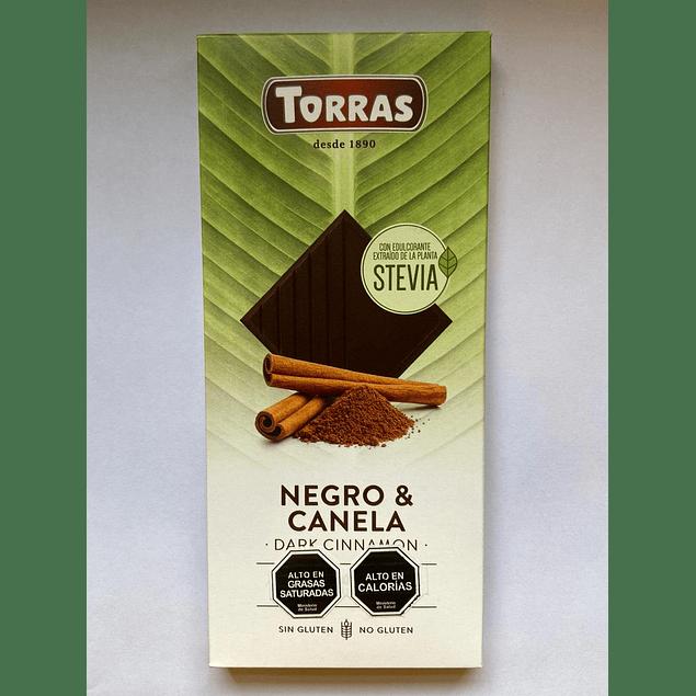 Chocolate Negro con Stevia y Canela 125g Torras