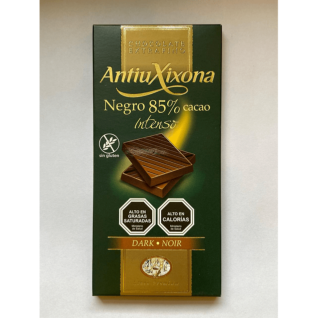 Chocolate Negro intenso 85% cacao 100g Antiu Xixona