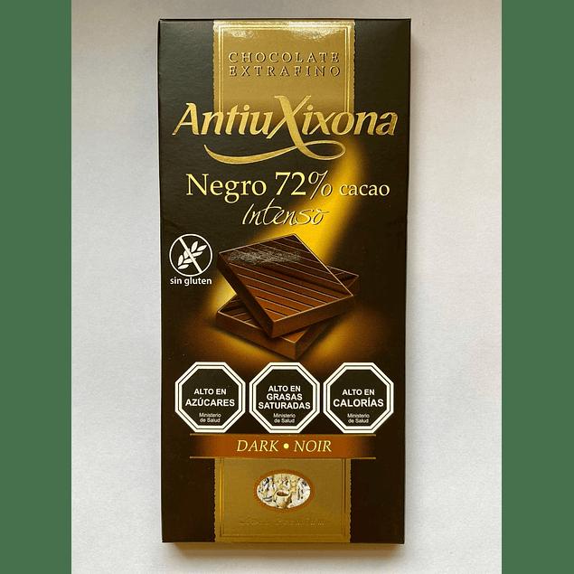 Chocolate Negro intenso 72% cacao 100g Antiu Xixona