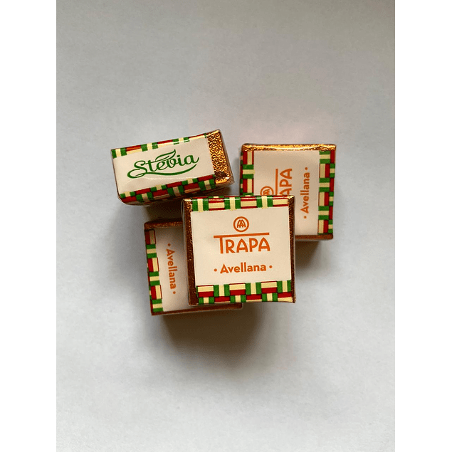 Chocolate Cortado stevia Avellana 10g Trapa