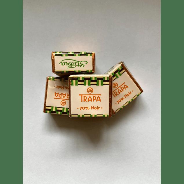 Chocolate Cortado stevia 70% cacao 10g Trapa