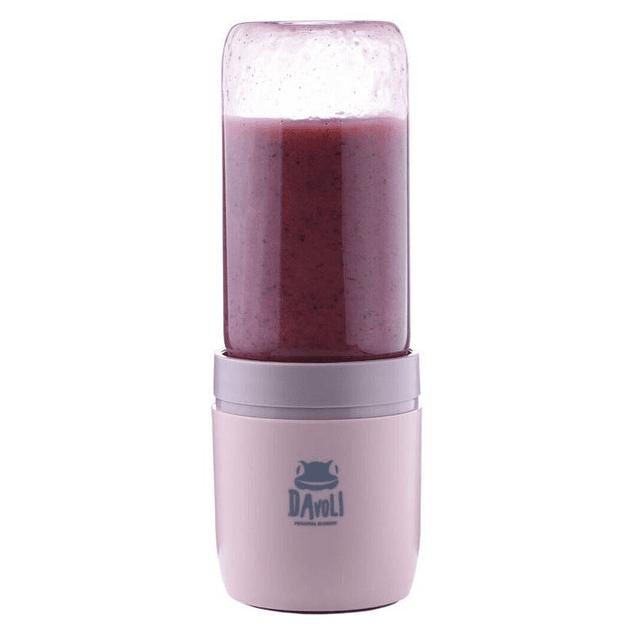 Licuadora personal portatil vaso de vidrio (rosada)  Davoli