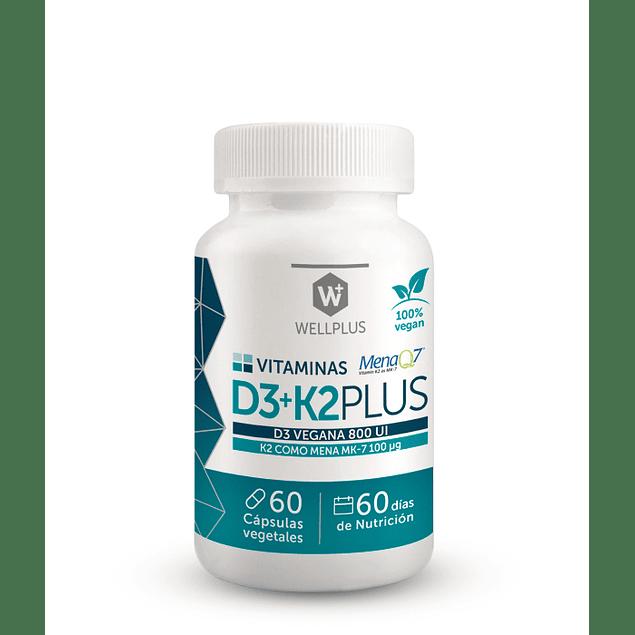Vitamina D3 + K2 60 cápsulas