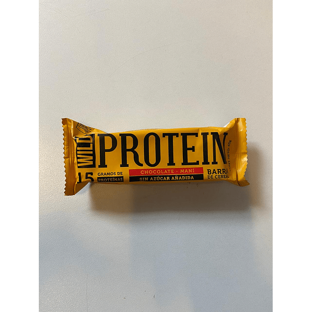Wild Protein Chocolate y Mani 45g The Wild Foods