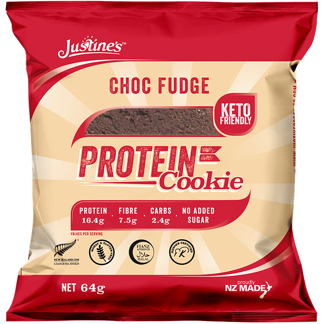 Galleta Choc Fudge Protein Cookie 64g Justines