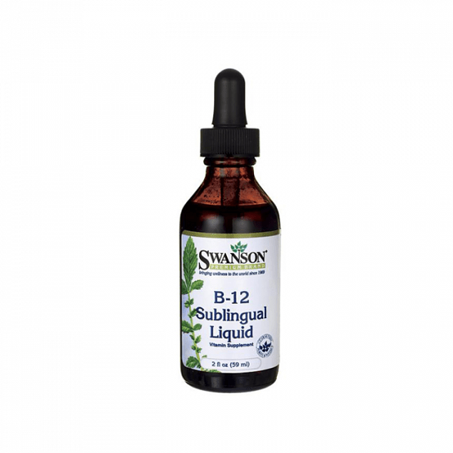 Vitamina B12 sublingual 59ml Líquida Swanson