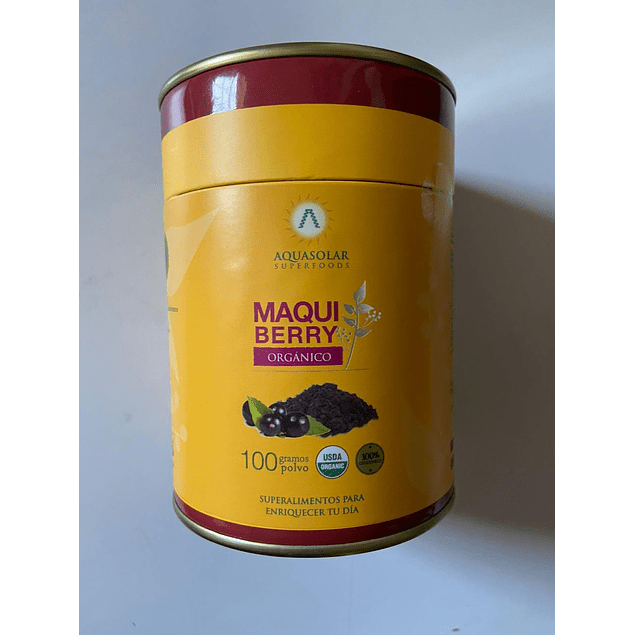 Maqui Berry polvo Organico 100g Aquasolar