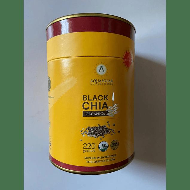 Black Chia polvo Organico 220g Aquasolar