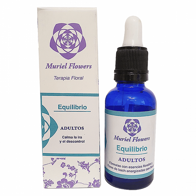 Terapia Floral Equilibrio Adultos  30ml Muriel Flowers