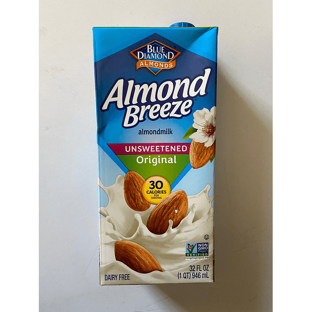 Leche de Almendra Sin Azucar 946ml Almond Breeze