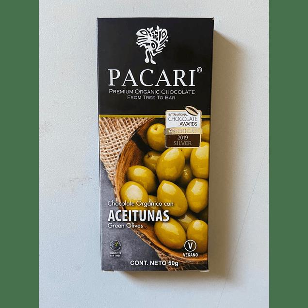 Chocolate Aceitunas 50gr Orgánico Pacari