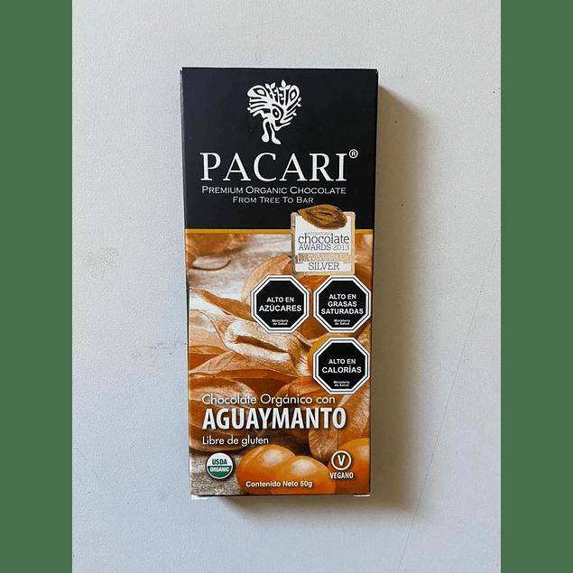 Chocolate Aguaymanto 50gr Orgánico Pacari