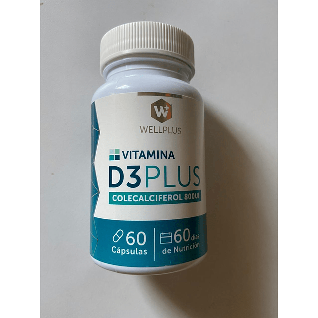 Vitamina D3 Colecalciferol 60 caps Wellplus