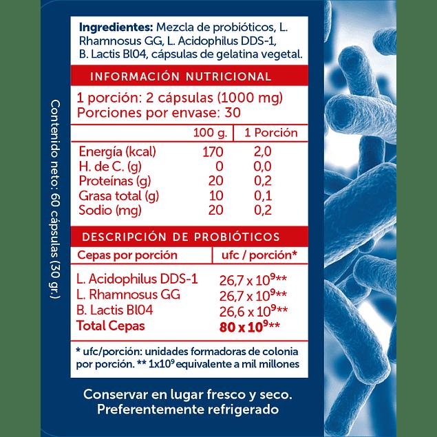 Probiotic Plus 80Billones 60 Cápsulas Refrigerado Wellplus