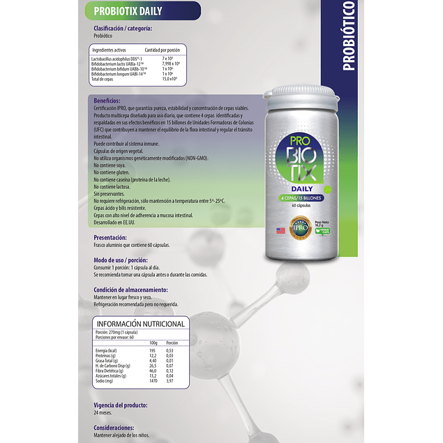 Biotix Daily (15 billones) 60 cápsulas  Newscience