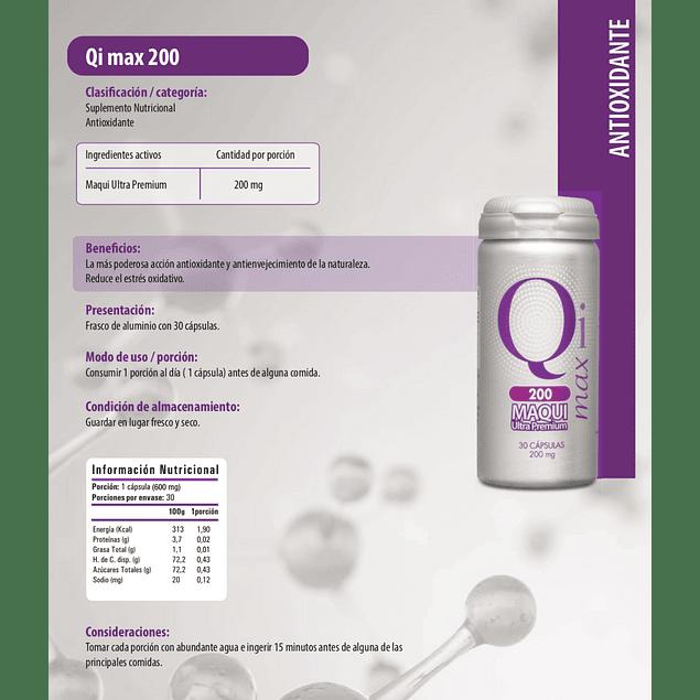 Qi Max 200 Maqui ultra premiun 200 mg Newscience