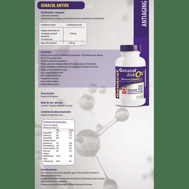 Genacol antiox (colágeno 400mg con maqui) 90 cápsulas  Newscience