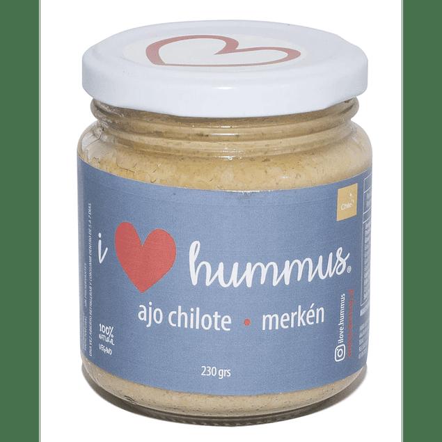 Hummus Ajo Chilote y Merken 230g I Love Hummus