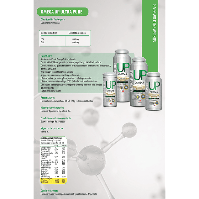 Up Omega 3 150 cápsulas Newscience