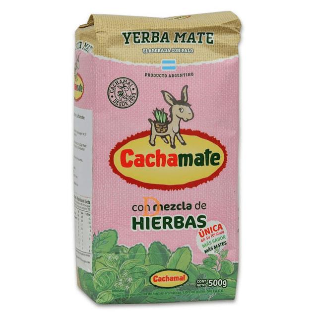 Yerba Mate Rosa  Hierbas 500g Cachamate