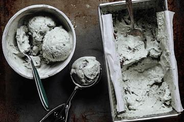 Receta: Helado de menta y trozos de chocolate