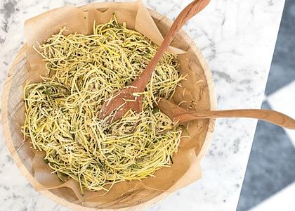 Receta: Ensalada de zapallo italiano y oliva