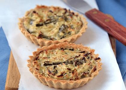 Receta: Tartaletas de puerro y brócoli